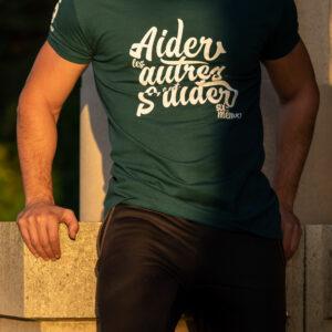 T-shirt «Aider les autres» – bleu pétrole