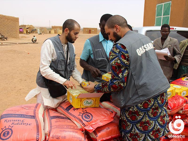 Bénévoles lors de l'action BIHA au Niger en 2017