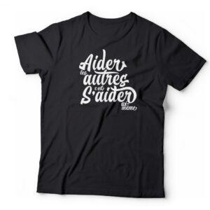 T-shirt «Aider les autres» – bleu noir