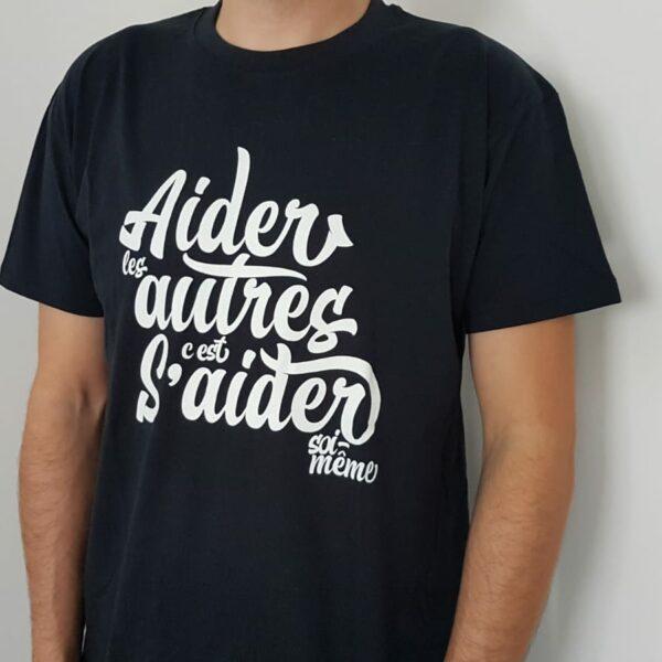 """T-shirt """"Aider les autres"""" – bleu noir"""